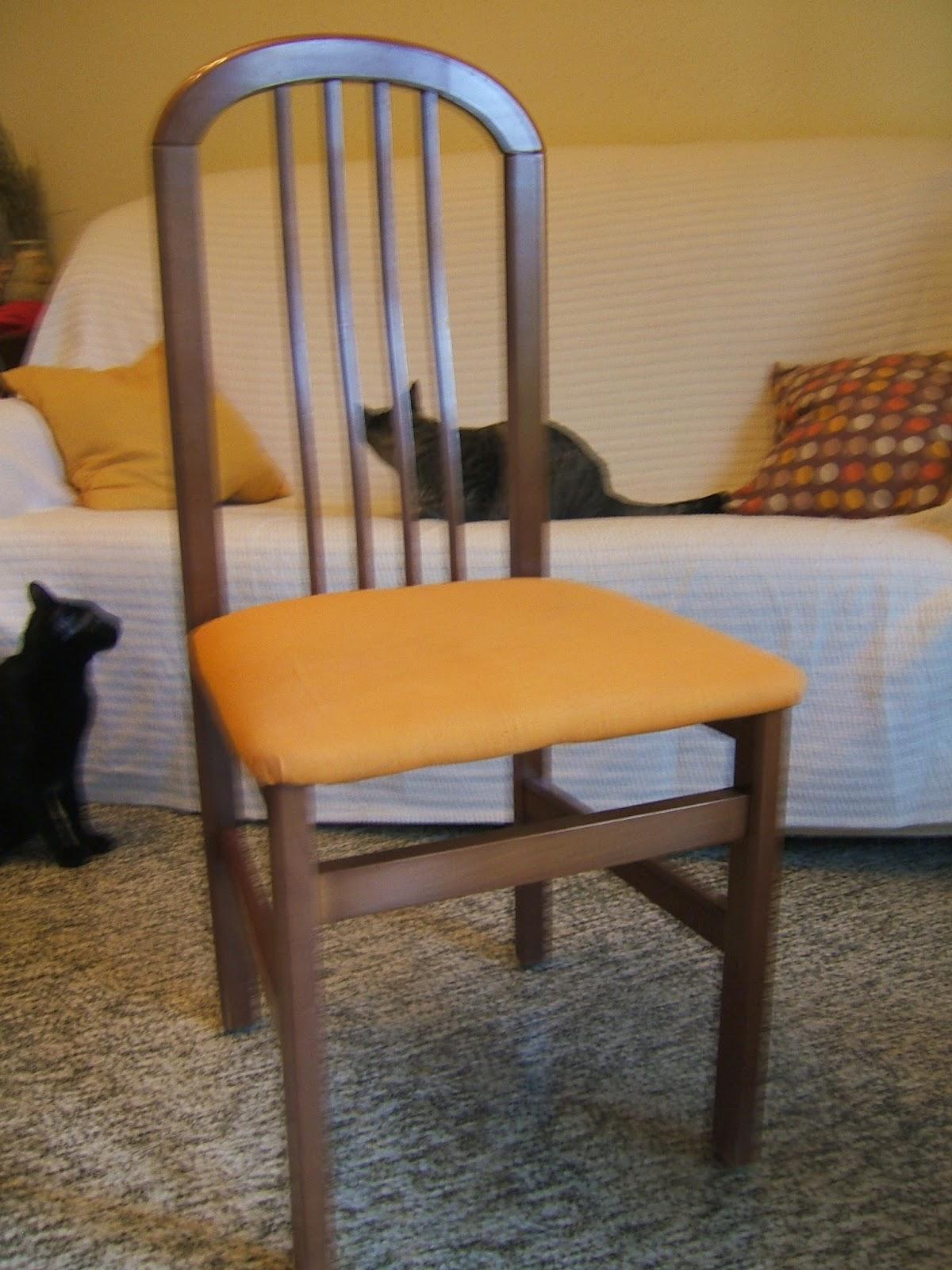 Grace blog 5 pasos para tapizar sillas - Como tapizar una silla con respaldo ...