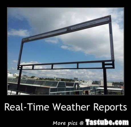 The real weather report