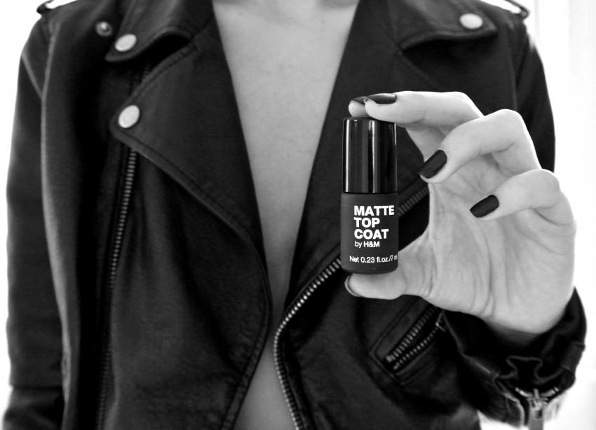 of a Black Matte Top Coat