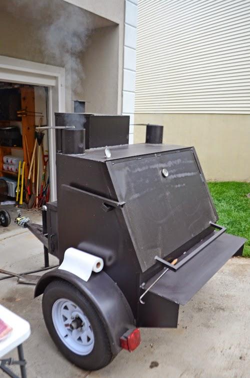 bbq, barbecue pit, barebecue trailer