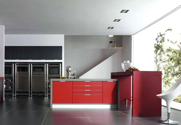 Cocinas a todo color decoracio nesdotcom - Cocinas de color rosa ...