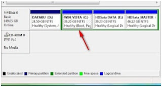 Memperbesar ukuran partisi hardisk di windows vista