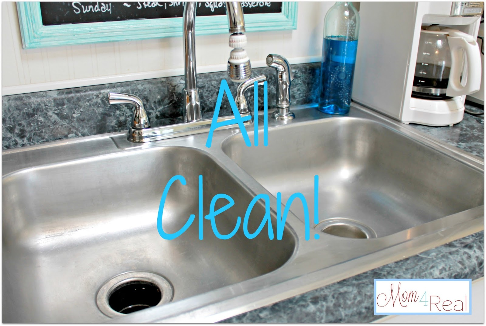 How To Clean Your Stainless Steel Kitchen Sink - Mom 4 Real