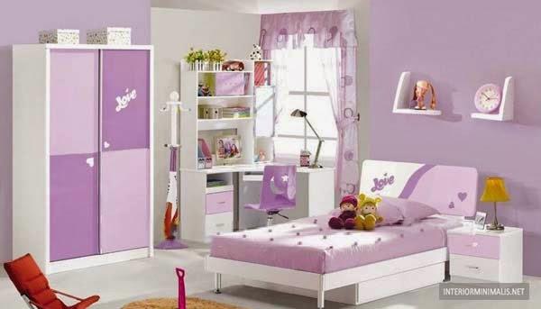 kumpulan desain kamar minimalis untuk anak perempuan