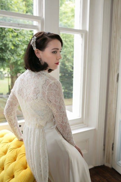 1940s lace coat and wedding dress (Heavenly Vintage Brides)