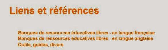 Liens et références Banques de Resources Educatives Libres