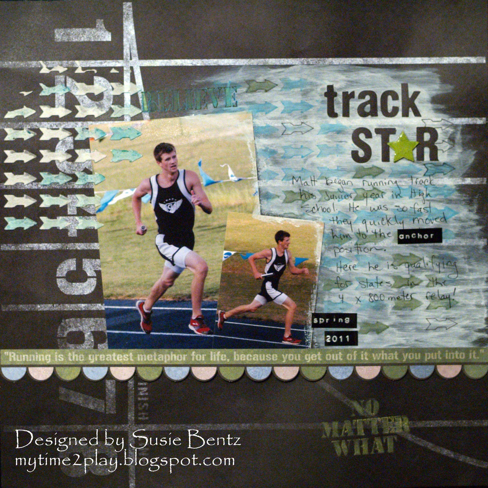 Running scrapbook ideas - Go The Distance Collection