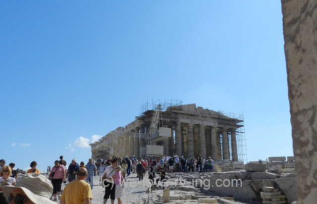 The first sight we have when arriving at the Acropolis