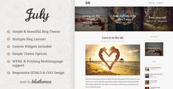 Simple and Elegant WordPress Blog Theme