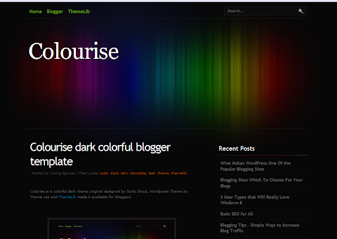 Colourise Blogger Theme