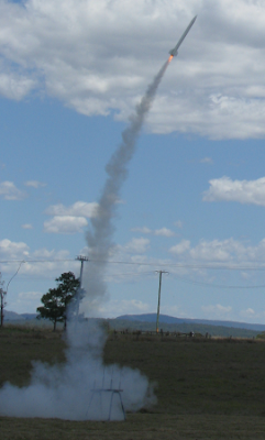 Callisto rocket fired on F40 motor