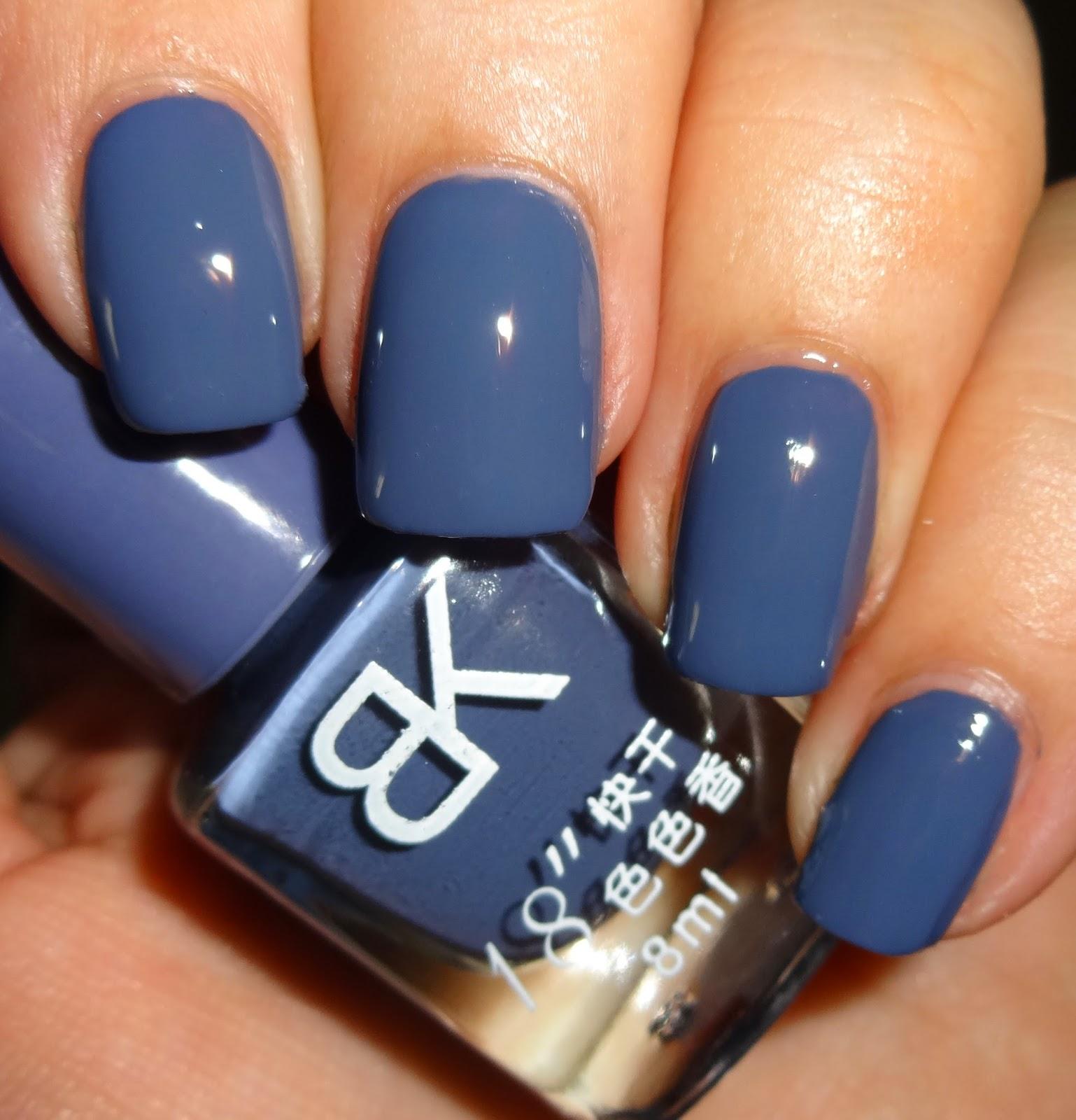 Wendy\'s Delights: Born Pretty Store BK Nail Polish - Steel Blue ...