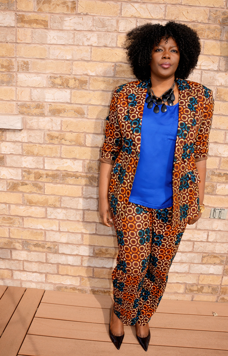 PLUS SIZE AFRICAN PRINT SUIT - My Curves And Curls