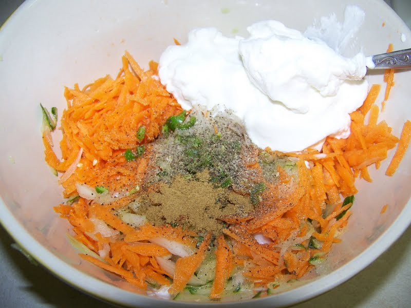 Kitchen Simmer: Cucumber and Carrot Raita (Yogurt Salad)