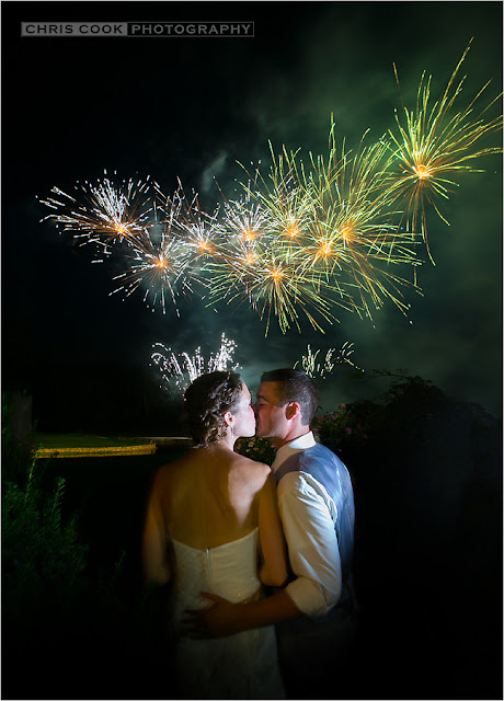 Cape Cod wedding blog photo from Chris Cook Photography about Willowbend Fireworks