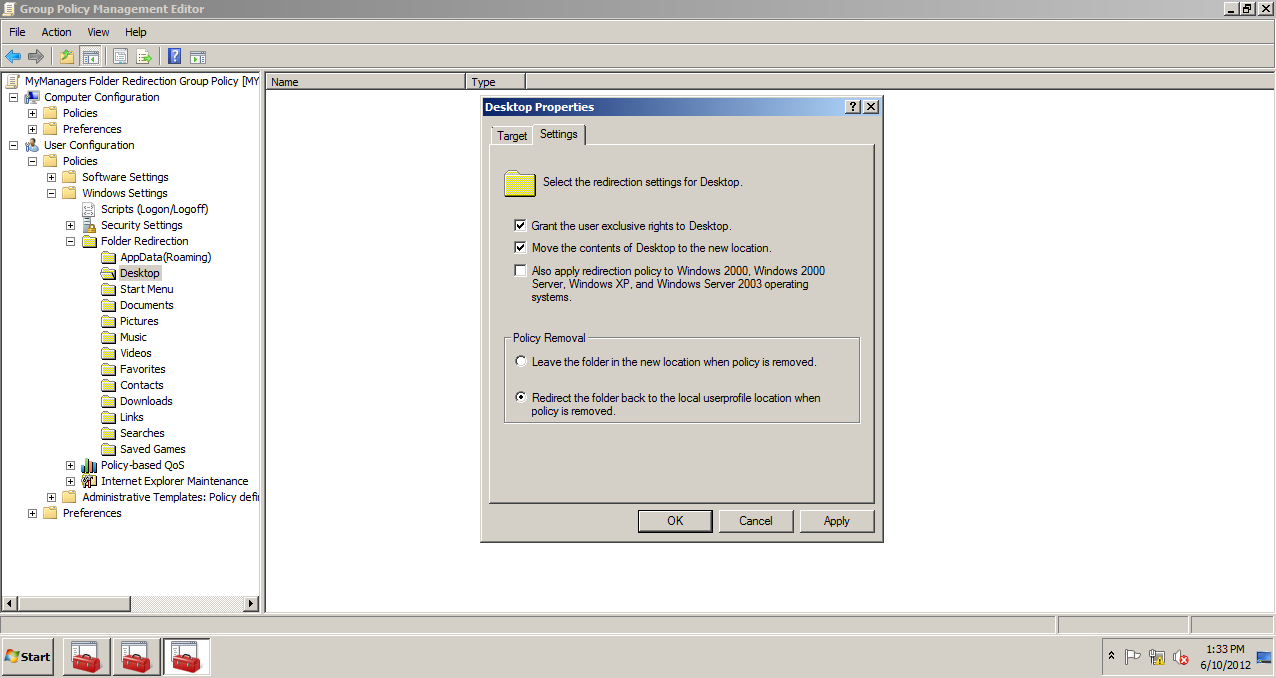AD Shot Gyan: Deleting the Folder Redirection Group Policy Object ...