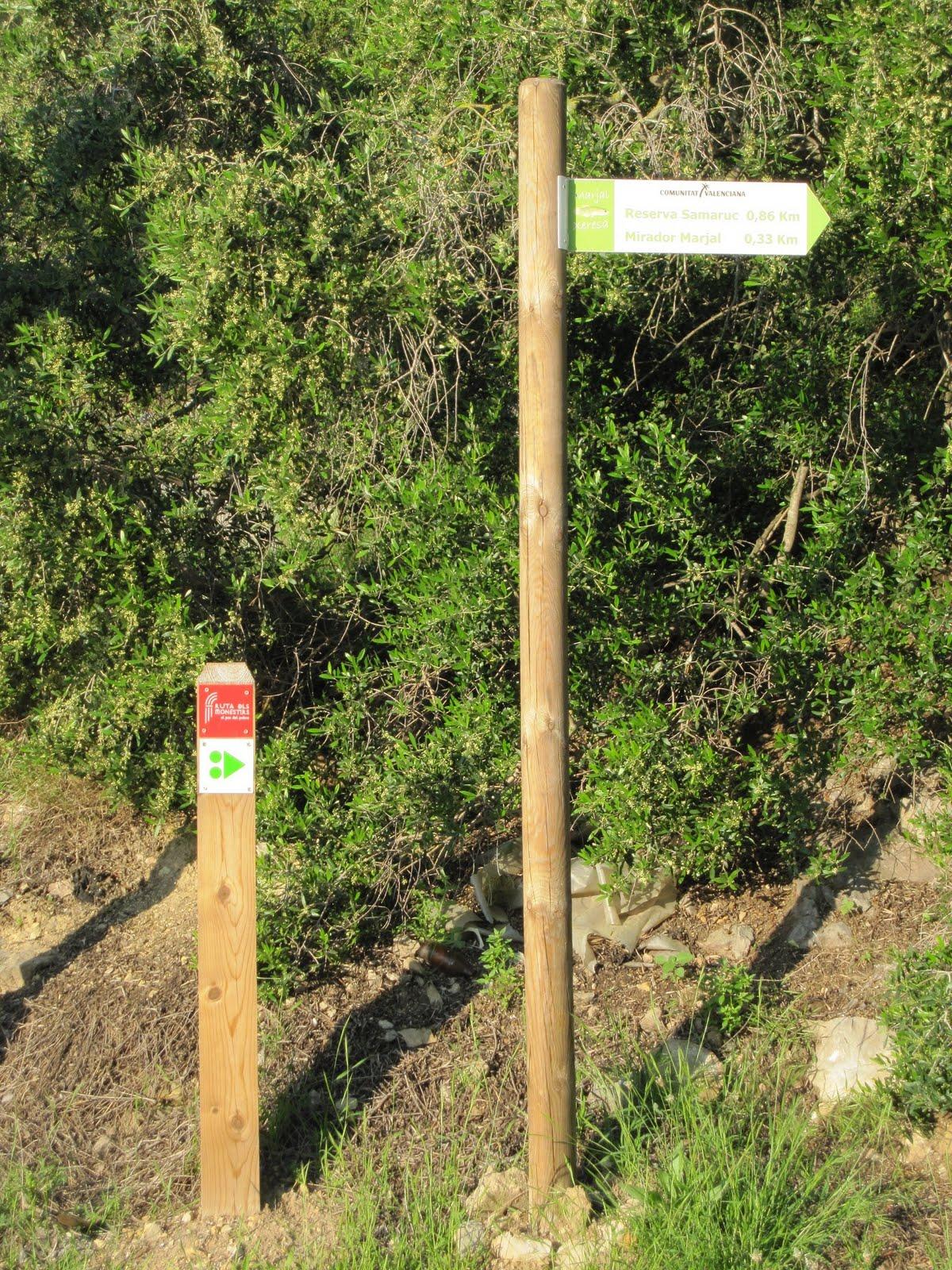 Senyals marjal de Xeresa a la muntanyeta de la Creueta