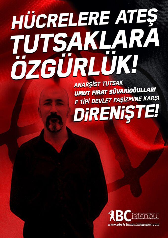 Devrimci Anarşist Tutsak Umut Fırat Süvarioğulları Açlık Grevinde