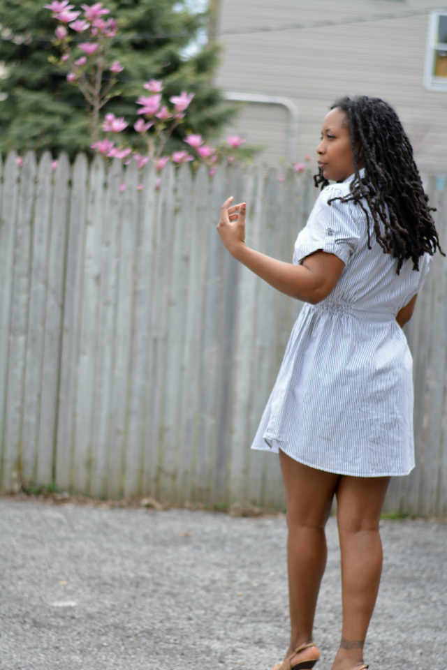 sahm casual shirtdress