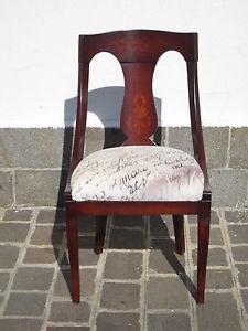 Gondola schienale ricurvo sedie d' epoca Restaurazione