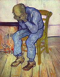 Vincent van Gogh's 1890 painting At Eternity's Gate. Wikipedia, public domain