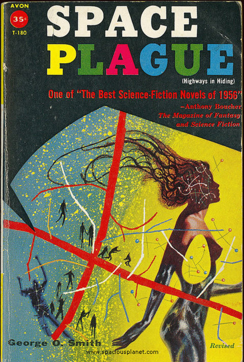 awesome classic sci-fi book cover George O. Smith - Space Plague
