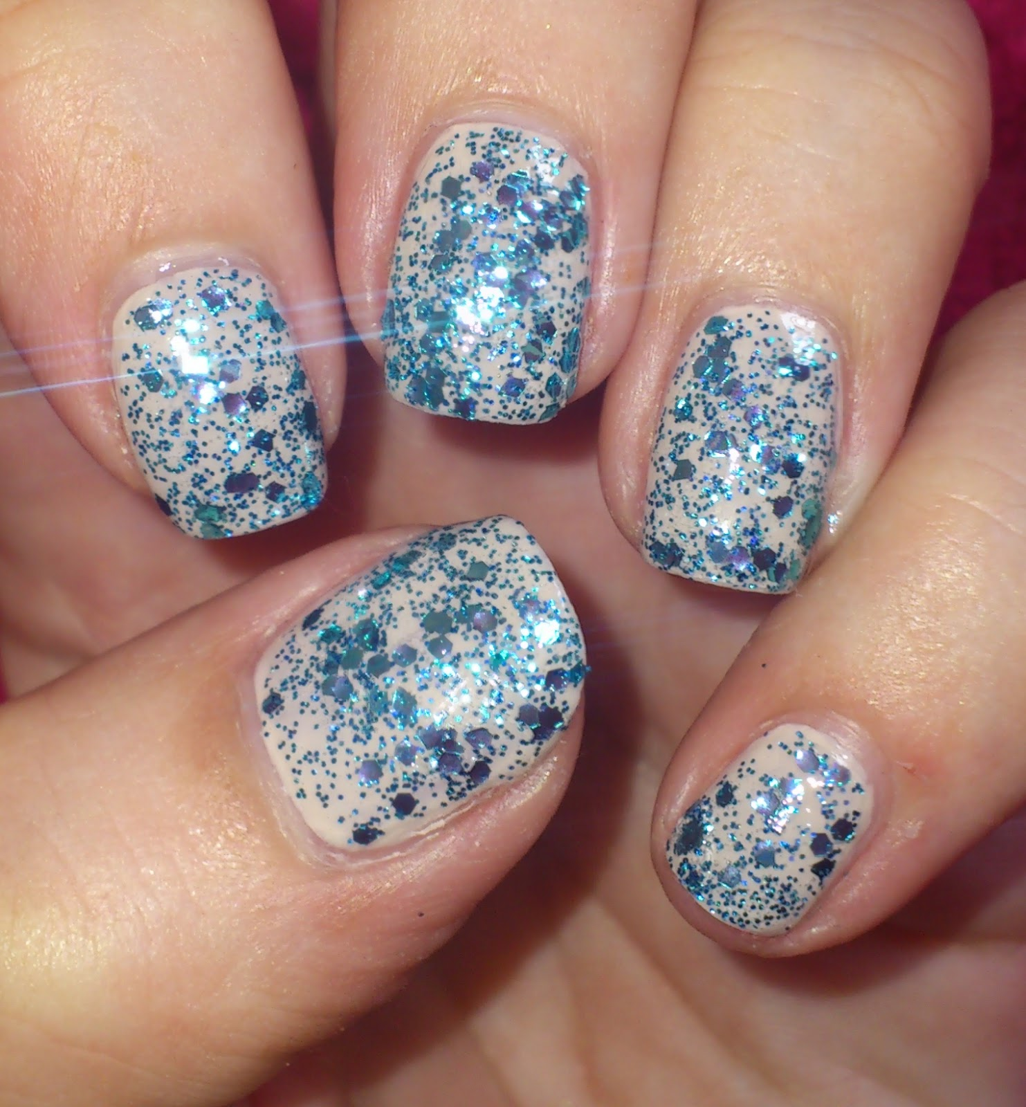 Blue Nail Varnish Uk: Wendy's Delights: Tmart Glitter Nail Polish