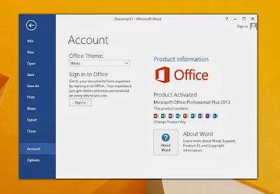 Cara Aktivasi Microsoft Office 2013 di Windows 8.1