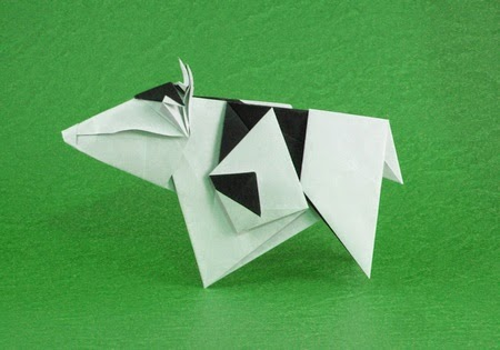 Easy Origami Cow Instructions For Kids Crafts