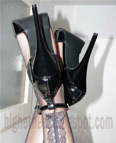 6 inch high heels and stockings