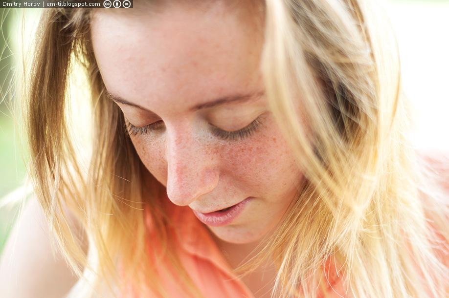 девушка, лицо, красивая, рыжая, веснушки, глаза, нос, щёки, щечки, волосы, блондинка, губы