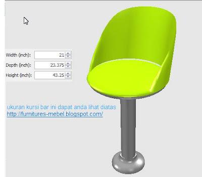 ukuran furniture kursi cafe murah