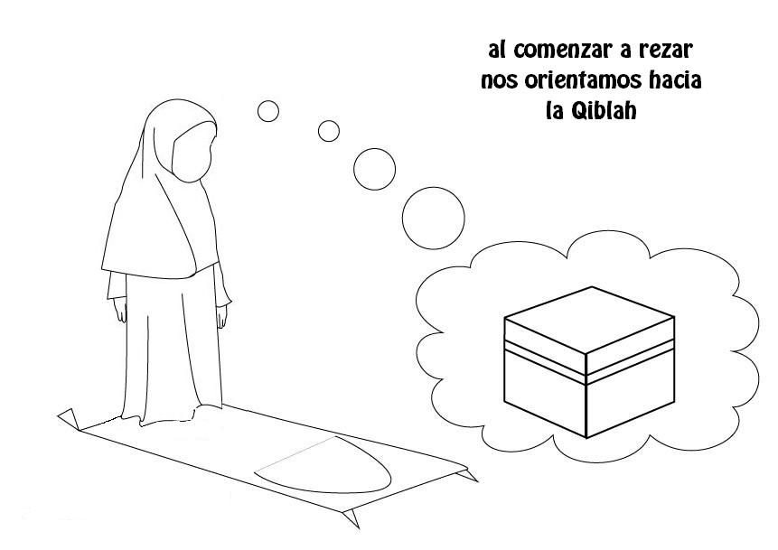 Islam Para Niños: A colorear Al comenzar a rezar nos orientamos ...