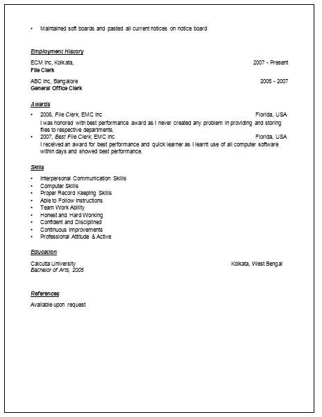 pdf on cv writing