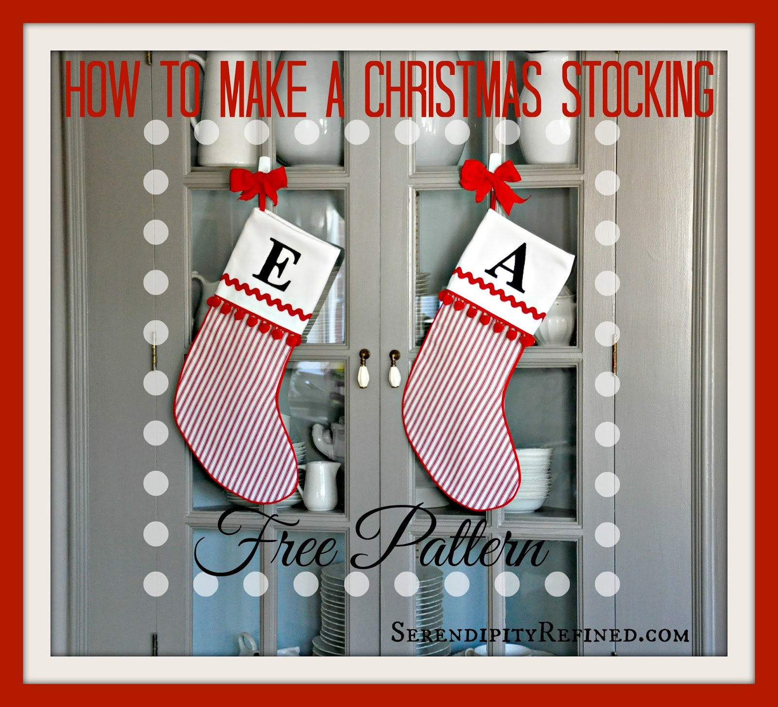 How to make achristmas stocking free pattern with cuff tutorial jpg
