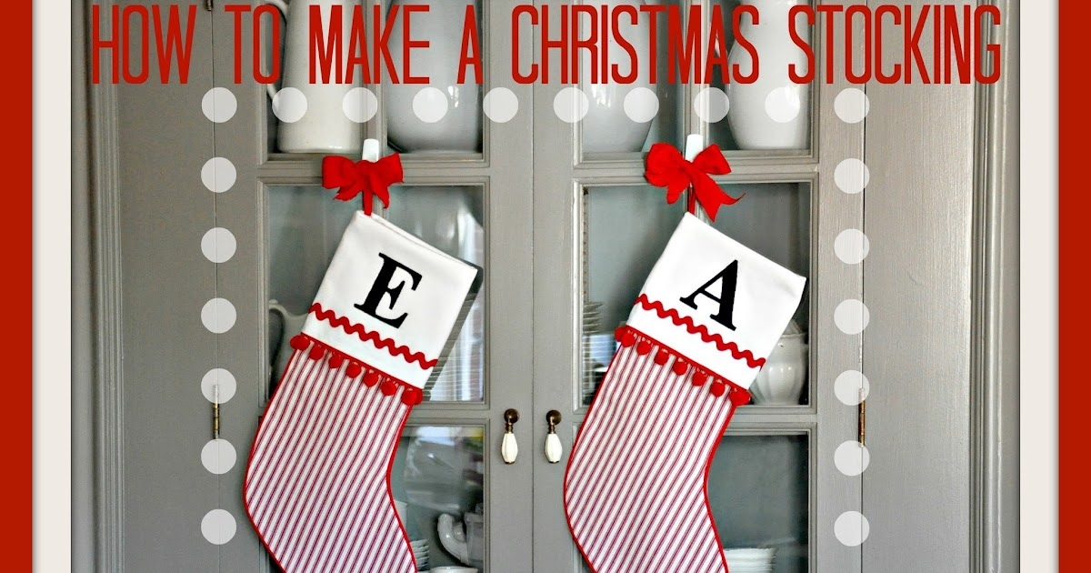 how to make a christmas stocking with a cuff