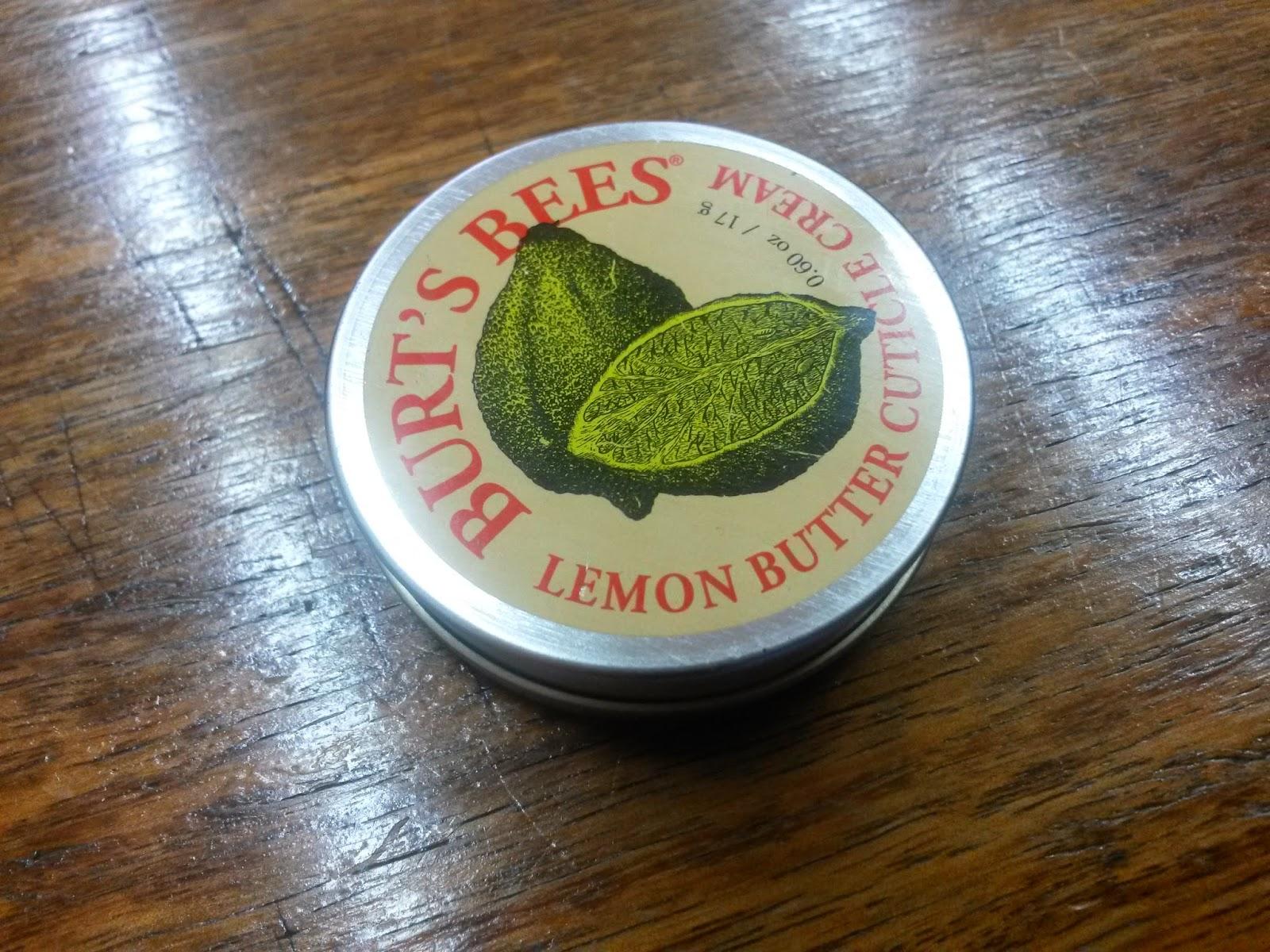 Entre Araucarias: Crema de Limón para Cutículas (y Uñas) de Burt\'s Bees.