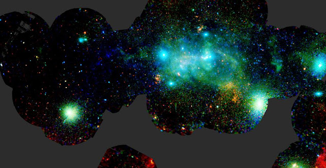 The central regions of our galaxy, the Milky Way, seen in X-rays by ESA's XMM-Newton X-ray observatory. Credit: ESA/XMM-Newton/G. Ponti et al. 2015