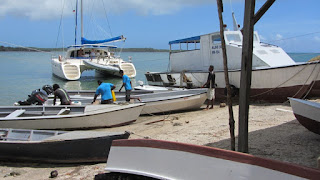 Trockenfallen vor der Bootswerft