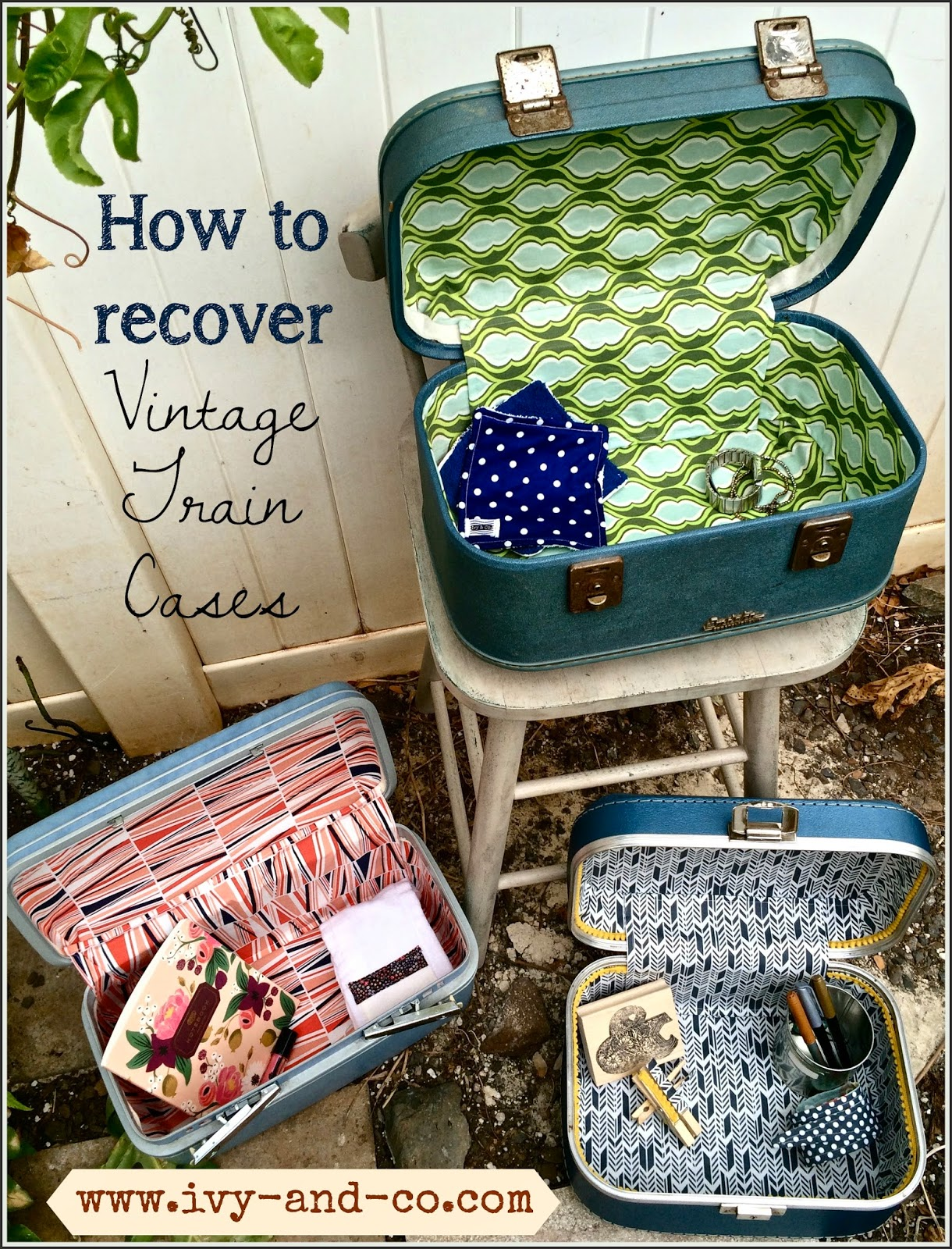 How to recover and clean a vintage train case - Ivy & Co.