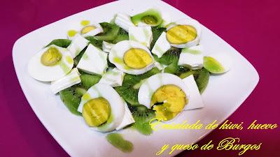 Ensalada De Kiwi, Huevo Y Queso De Burgos