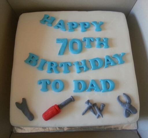 70 Yrs Old Birthday Cake