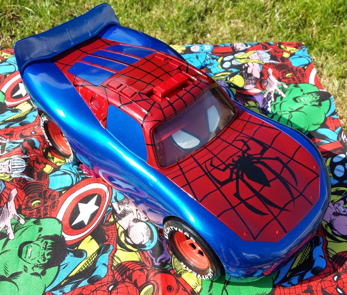 Custom made Pixar Lightening McQueen cars - Spiderman