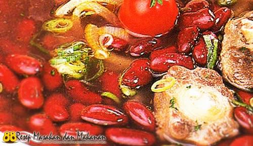 Sup Kacang Merah Sosis