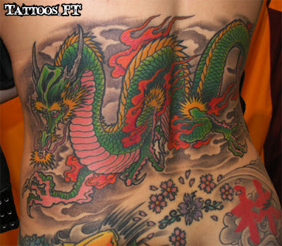 How to Tattoo Dragão verde nas Costas