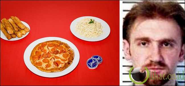 Jackie Williams - Ferrucine Alfredo, pizza, breadstick dan roti peppermint