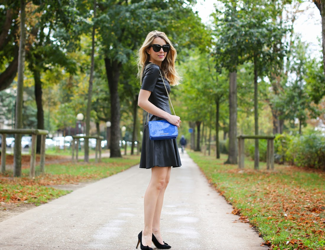 zara, leather dress, isabel marant, lara bohinc, fashion blogger, streetstyle, outfit, look du jour