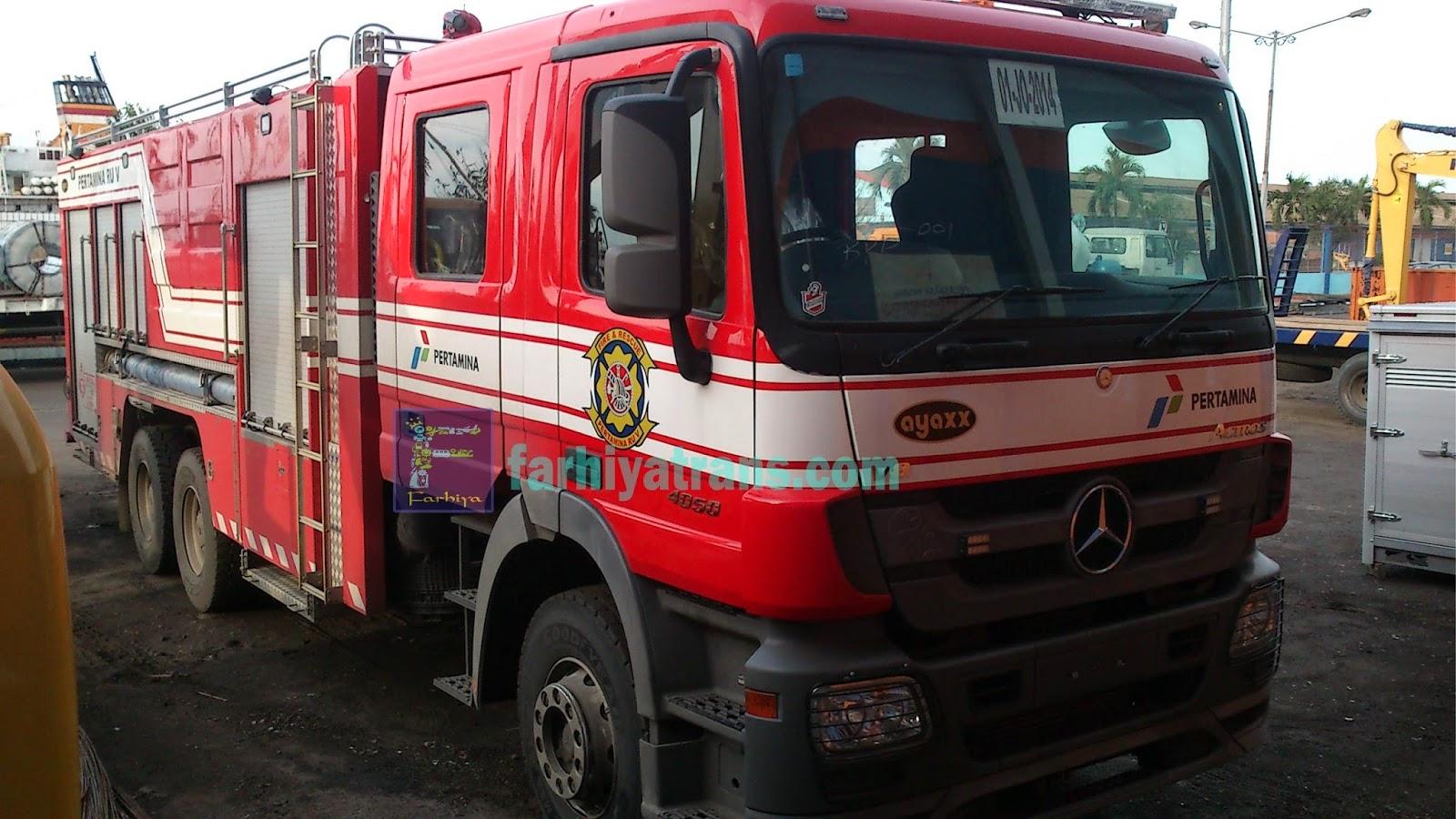 pengiriman mobil pemadam kebakaran dari surabaya ke balikpapan