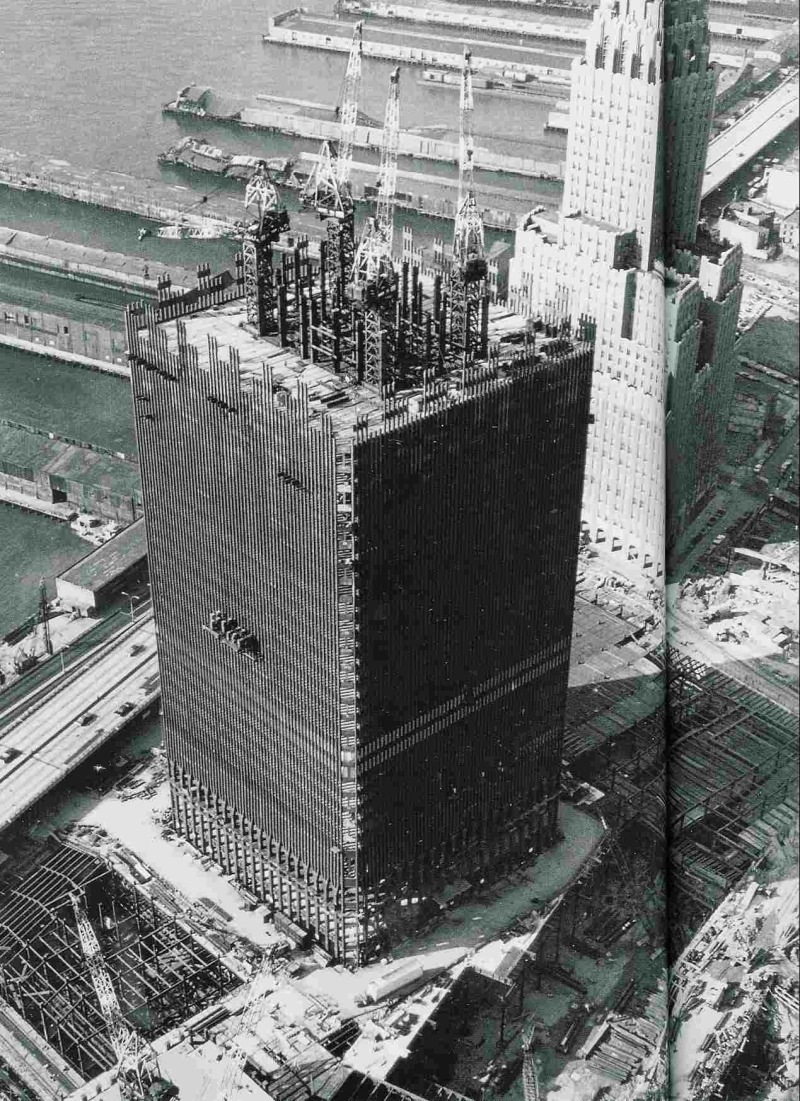 Construction of the world trade center vintage everyday for Architecture 1970
