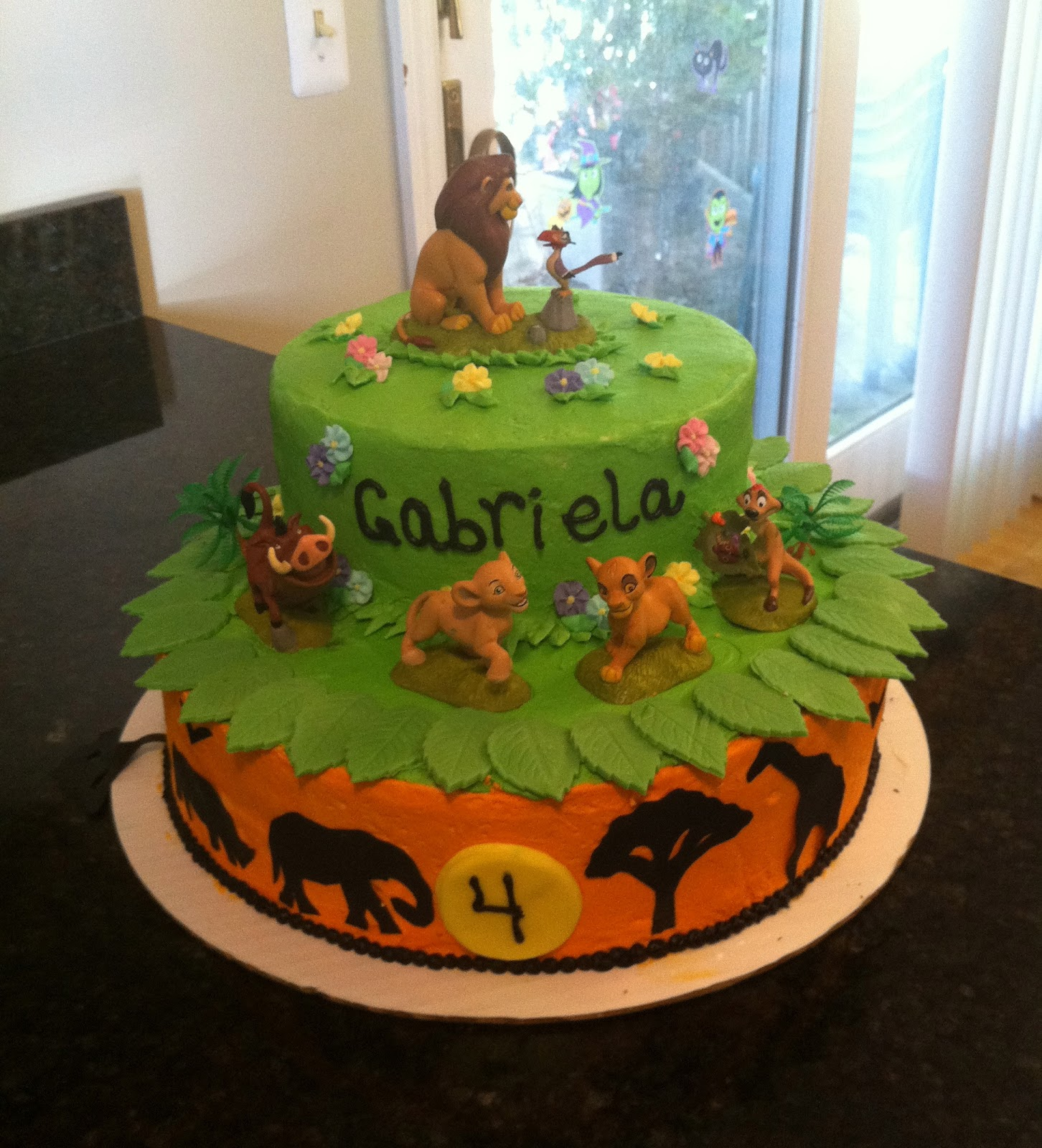 Disney , The Lion King birthday cake, made by me and my sister ...